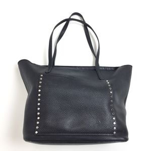 Rebecca Minkoff Black Pebbled Leather Studded Tote